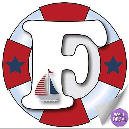 Amazon Com Wall Letters H Nautical Ocean Sailing Red White Blue