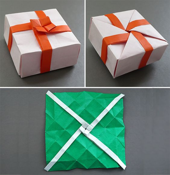 Paper Box DIY, Easy Origami Box (Tutorial, How to) - YouTube | 581x564