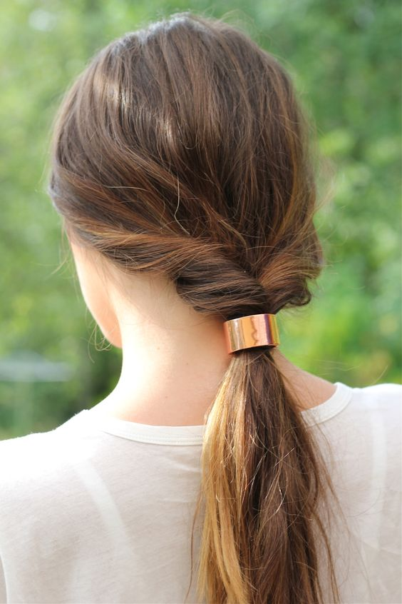 dressed-up ponytail