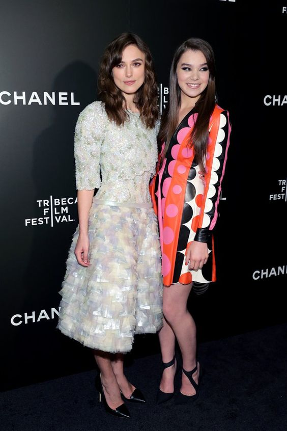 Pin for Later: See All the Stars at the Tribeca Film Festival  Keira Knightley and Hailee Steinfeld screened Begin Again