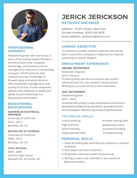 Free Basic Network Engineer Resume Template Engineering Resume Templates Basic Resume Network Engineer