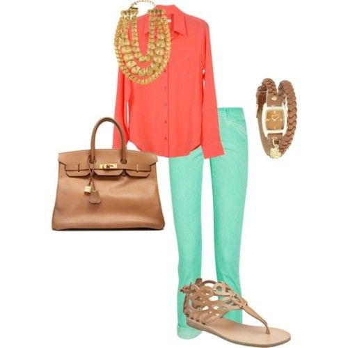 All about opposite/bright colors this spring and summer.