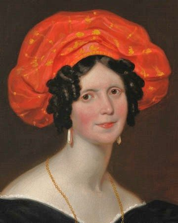 ▴ Artistic Accessories ▴ clothes, jewelry, hats in art - Franz Xaver Winterhalter | woman with turban, 1830: