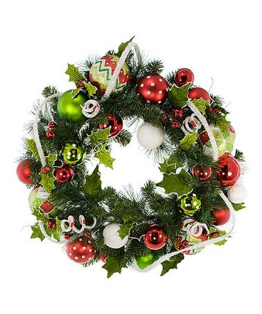 Another great find on #zulily! Christmas Fun Wreath #zulilyfinds