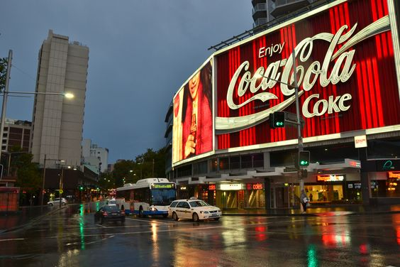 The famous Coca Cola sign in Darlinghurst, Sydney.