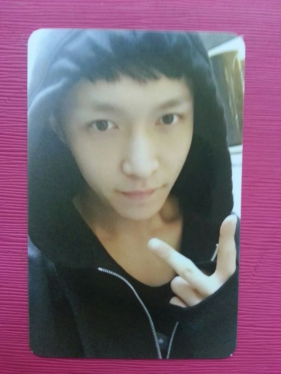 EXO K M LAY Official Photo Card 2nd Album EXODUS Black Ver. Photocard