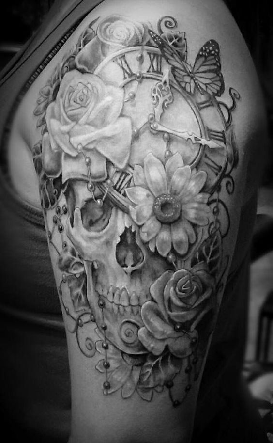 Half Sleeve For Women Skull Skull Sleeve Women Diybesttattoo In 2020 Half Sleeve Tattoos Designs Girl Half Sleeve Tattoos Tattoos For Women Half Sleeve