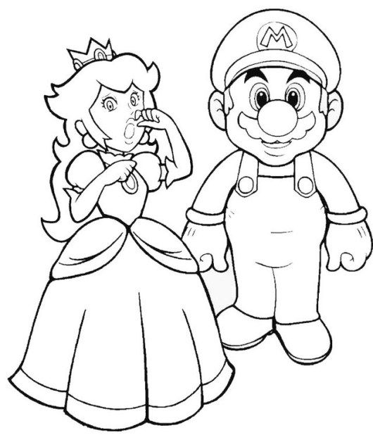Mario Saving Princess Peach Coloring Sheet Princess Coloring Pages Mario Coloring Pages Super Mario Coloring Pages