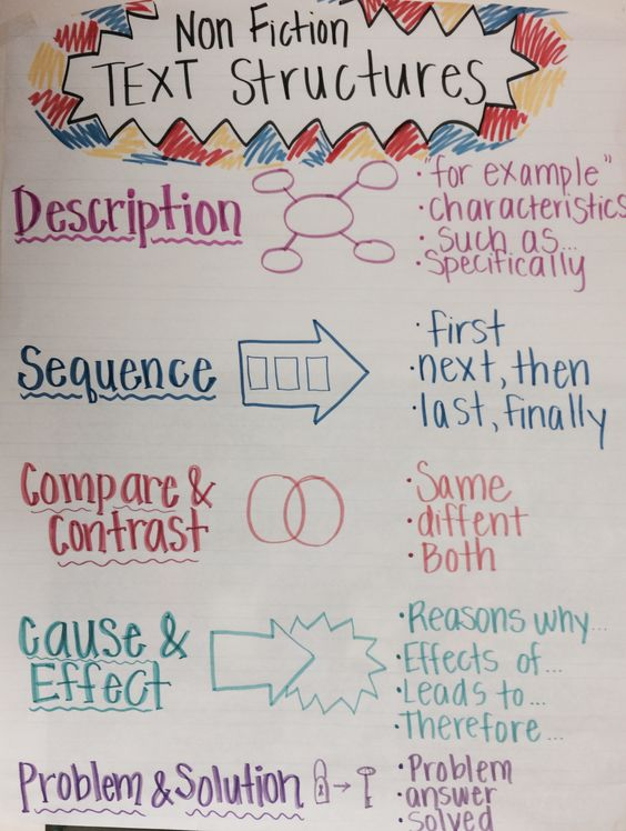 nonfiction writing anchor charts for second