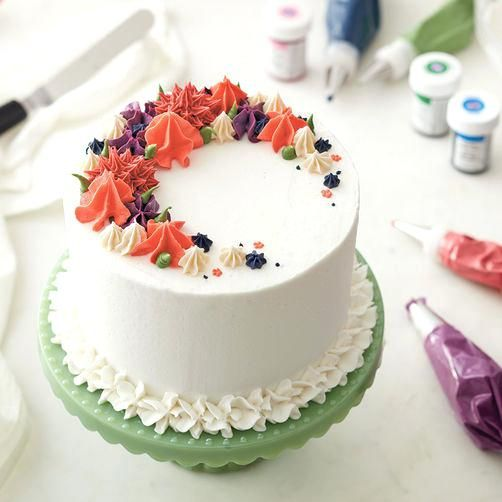 Birthday Cake Decorating Ideas With Buttercream Icing Charming Design Cakes Homely Vanilla Frosting Recipe Christmas Cakes Easy Cake Butter Cream