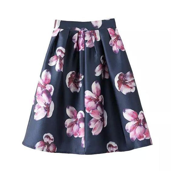 Оптовая ретро персика европейские и американские женщины фирменная M123 печать эластичный пояс большие качели юбка пачка юбки зонтик - Taobao