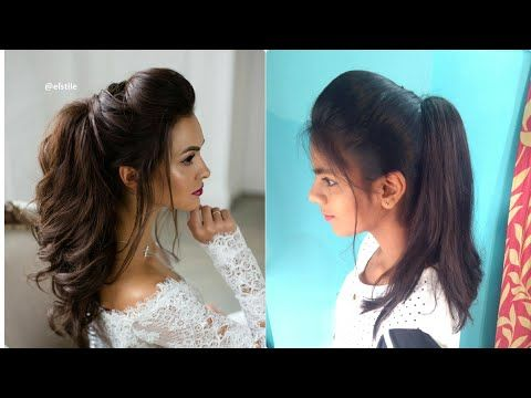 The Perfect High Ponytail With Puff Messy Ponytail No Teasing No Hairspray India High Ponytail Hairstyles Ponytail Hairstyles Tutorial Indian Hairstyles