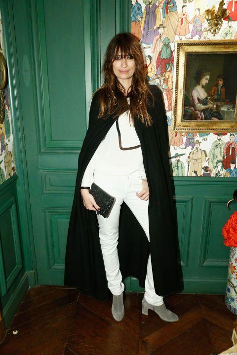 Caroline de Maigret is dramatic in a cape