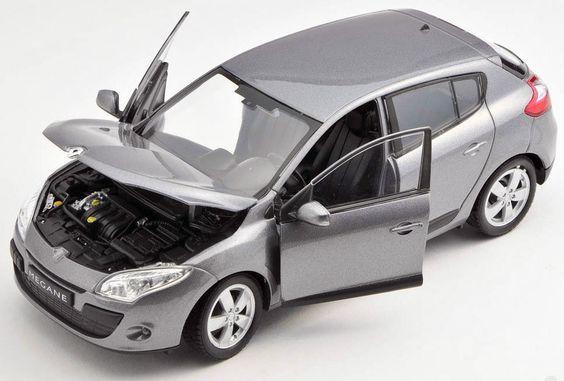 BLITZ VERSAND Renault Megane 2009 grau / grey Welly Modell Auto 1:24 NEU &…