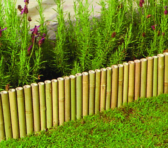 Bamboo landscaping ideas landscape edging for flower for Bamboo garden designs