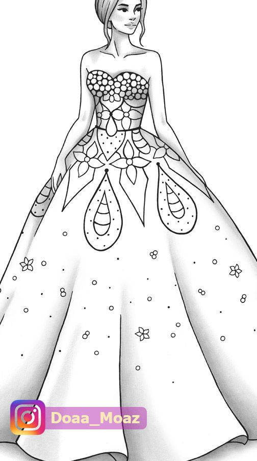 Printable Coloring Page Fashion And Clothes Colouring Sheet Etsy In 2021 Fashion Illustration Sketches Dresses Dress Design Drawing Dress Design Sketches