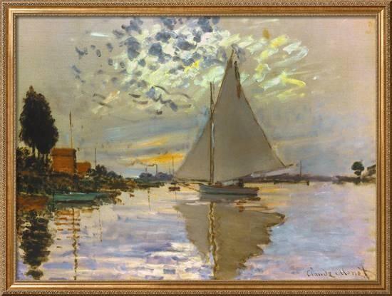 Monet Sailboat Giclee Print By Claude Monet