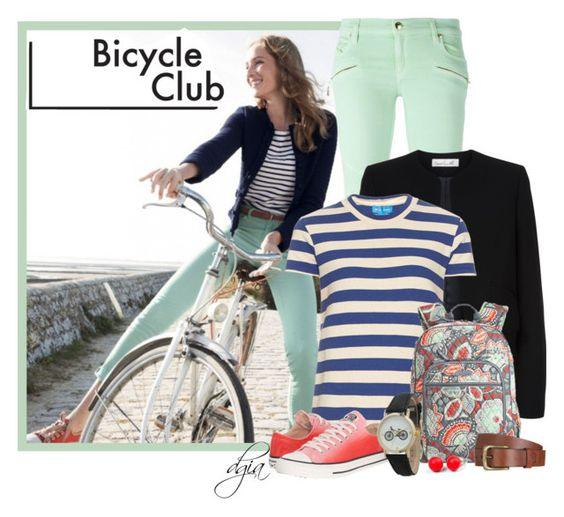 """""""Bicycle Club"""" by dgia ❤ liked on Polyvore featuring Just Cavalli, Damsel in a Dress, M.i.h Jeans, Converse, Wildfox, Will Leather Goods, Hring eftir hring and Geneva"""