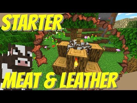How To Make A Cow Farm In Minecraft Easy Starter Meat Farm Leather Farm For 1 14 1 15 Avomance Youtube Meat Farms Minecraft Farm Minecraft Projects