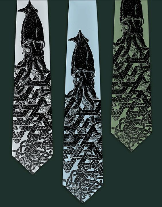 Tintenfisch - unmöglich Squid-Krawatte - Herren Krawatte zu binden
