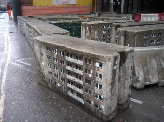 Серые коробки типовых домов от Evol Farringdon из Лондона (Великобритания).