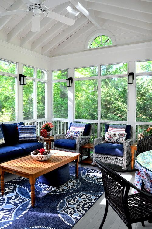 Beautiful Three Season Room Ideas Town Country Living House With Porch Screened Porch Decorating Three Season Room