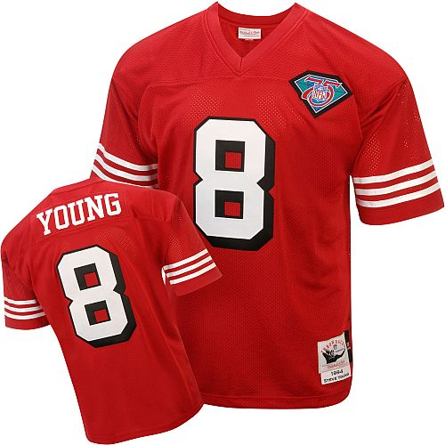 d7577adf2d6 Women s San Francisco 49ers 8 Steve Young White Jersey