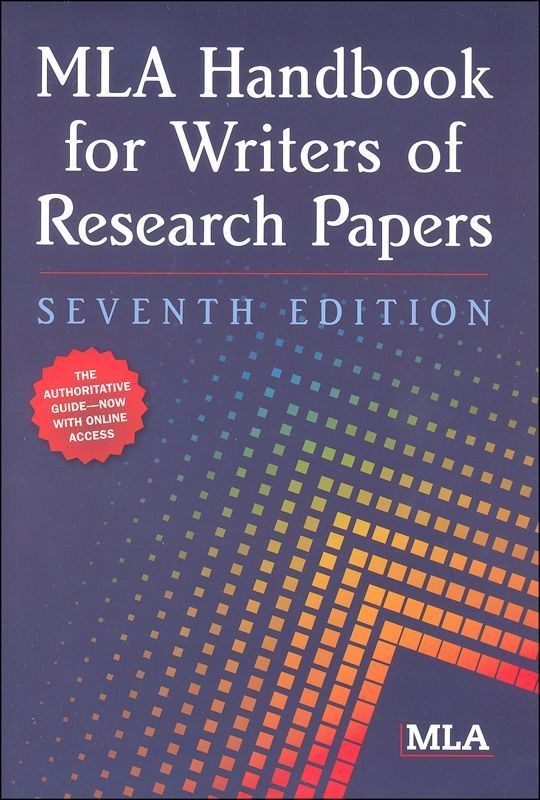 Mla Handbook For Writer Of Research Paper 7th Edition Main Photo Cover Scientific Writing Pdf Free Download