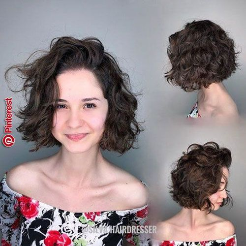Pin By Crystal Nature Decor On Kapsels Curly Bob Hairstyles Curly Hair Styles Thick Hair Styles
