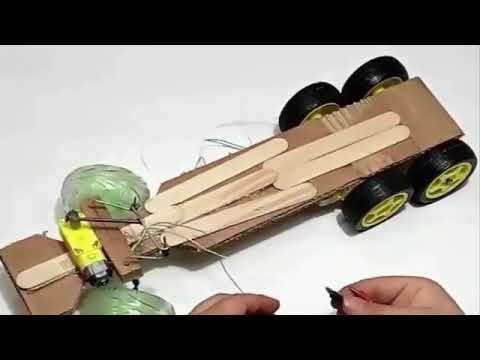 كيف تصنع شاحنة سطحه بالكرتون Crafts Wood Material