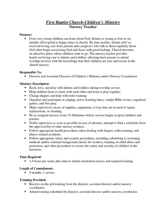Church Nursery Handbook Thenurseries