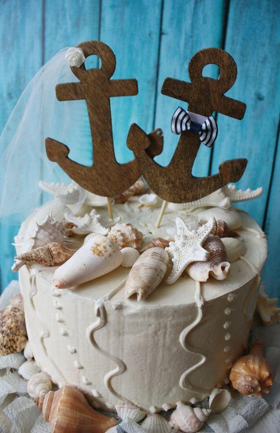 Pastel de boda de anclaje por MorganTheCreator en Etsy