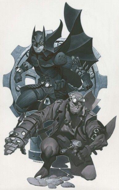 Hellboy & Batman Steampunk style