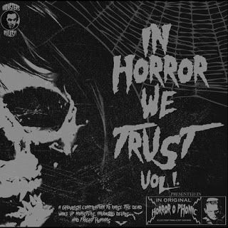 "DISTRIBUIDORA 64: V/A – IN HORROR WE TRUST VOL. 1 LP (Vinilo)+CD Precio: 11 euros. ""In Horror We Trust"" un recopilatorio homenaje al cine de terror, donde 10 bandas nacionales aportan sus versiones mas originales.  Compralo en : http://distribuidora64.blogspot.com.es/2016/08/va-in-horror-we-trust-vol-1.html"