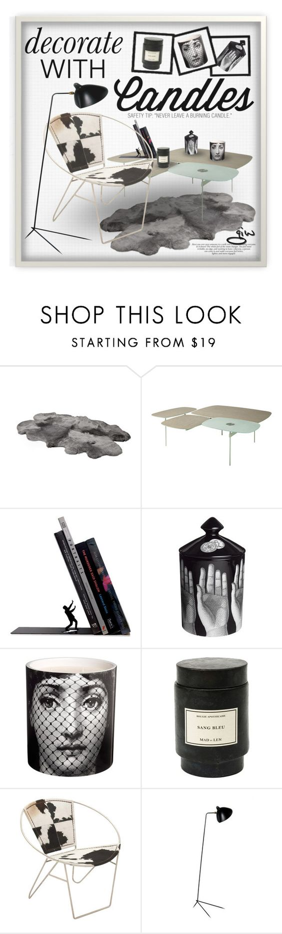 """""""'Burlesque'"""" by ian-giw ❤ liked on Polyvore featuring interior, interiors, interior design, home, home decor, interior decorating, Fornasetti, Mad et Len, Dot & Bo and Serge Mouille"""