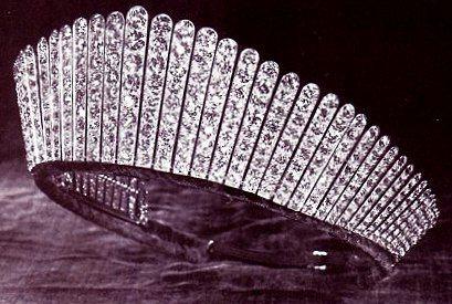 Queen Alexandra's Kokoshnik Tiara: The Ladies of Society, the 365 peeresses of the realm, gave this tiara to Queen Alexandra on the occasion of her silver wedding anniversary in 1888.