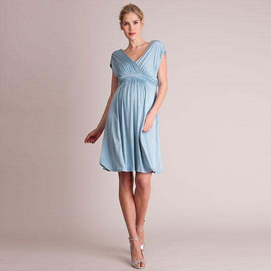 Camilla Kleid blau aus der Kategorie Festliche Umstandsmode von Mamarella - Details