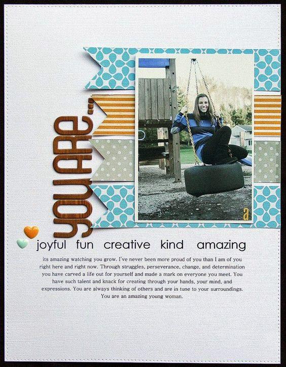 #papercraft #scrapbook #layout.  Scrap Our Stash Challenge