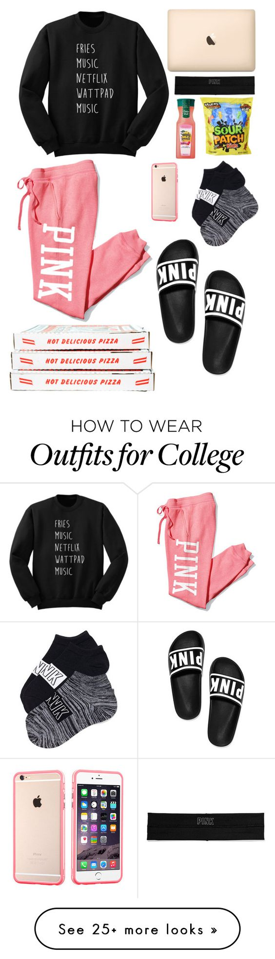 """Netflix and chill✌️"" by kyah35 on Polyvore featuring Victoria's Secret PINK"