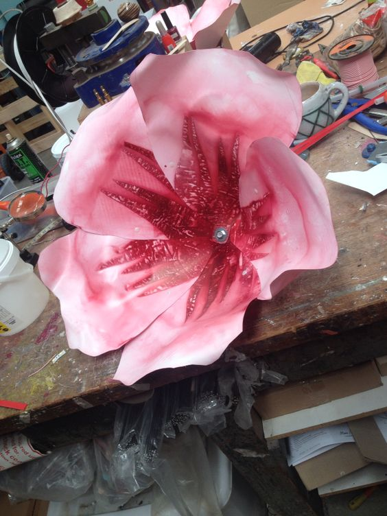 Polycarbonate dyed and heat formed cheery blossom dont ya know