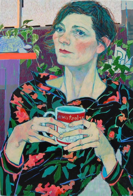 Expressive Color-Filled Portraits of Friends and Family by Hope Gangloff | Colossal