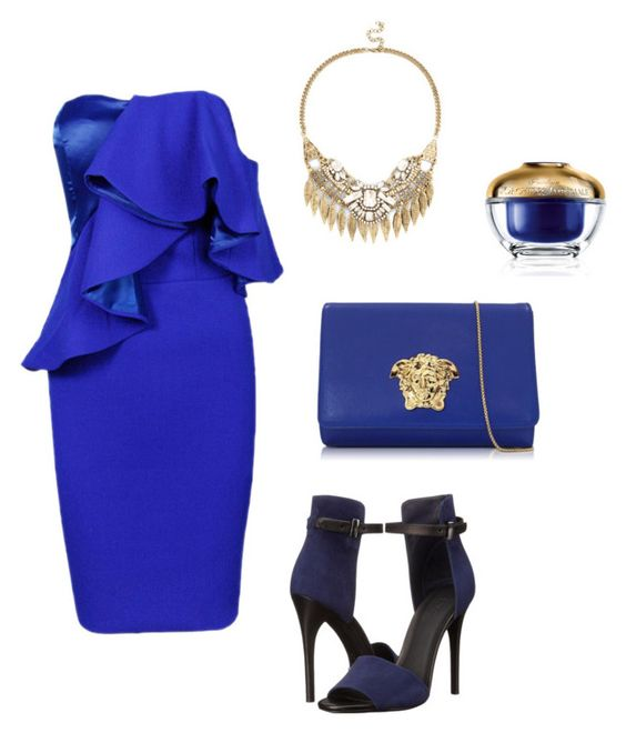 """""""Без названия #341"""" by my-lovely-life ❤ liked on Polyvore featuring Posh Girl, Versace, Vince, Sole Society and Guerlain"""
