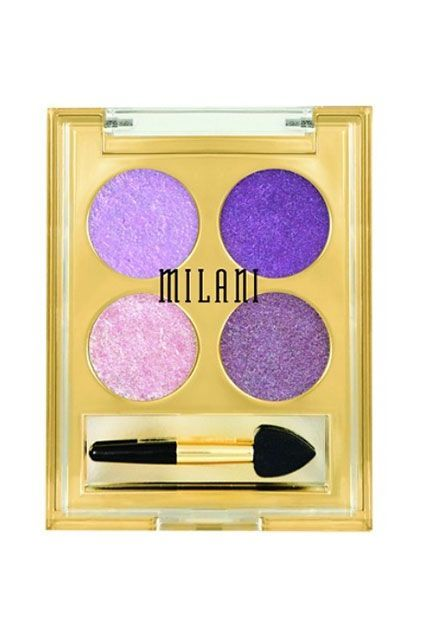 Best For: Green EyesThose with green eyes, on the other hand, can count on bold, purple shades to bring all the attention to their peepers. Be daring and try this quad from Milani to really make them stand out. The foil-like texture goes on like a dream.Milani Fierce Foil Eyeshine in 02 Rome, $9.99, available at Milani.  #refinery29 http://www.refinery29.com/affordable-makeup-palettes#slide-10