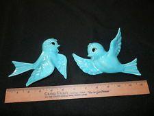 ... WALL HANGERS Decorations lot of (2) Blue Birds Very Cute Disney like