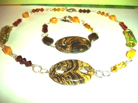 2 pc set Hand made chocolate tiger's eye stones by Thesnowrose, €16.00