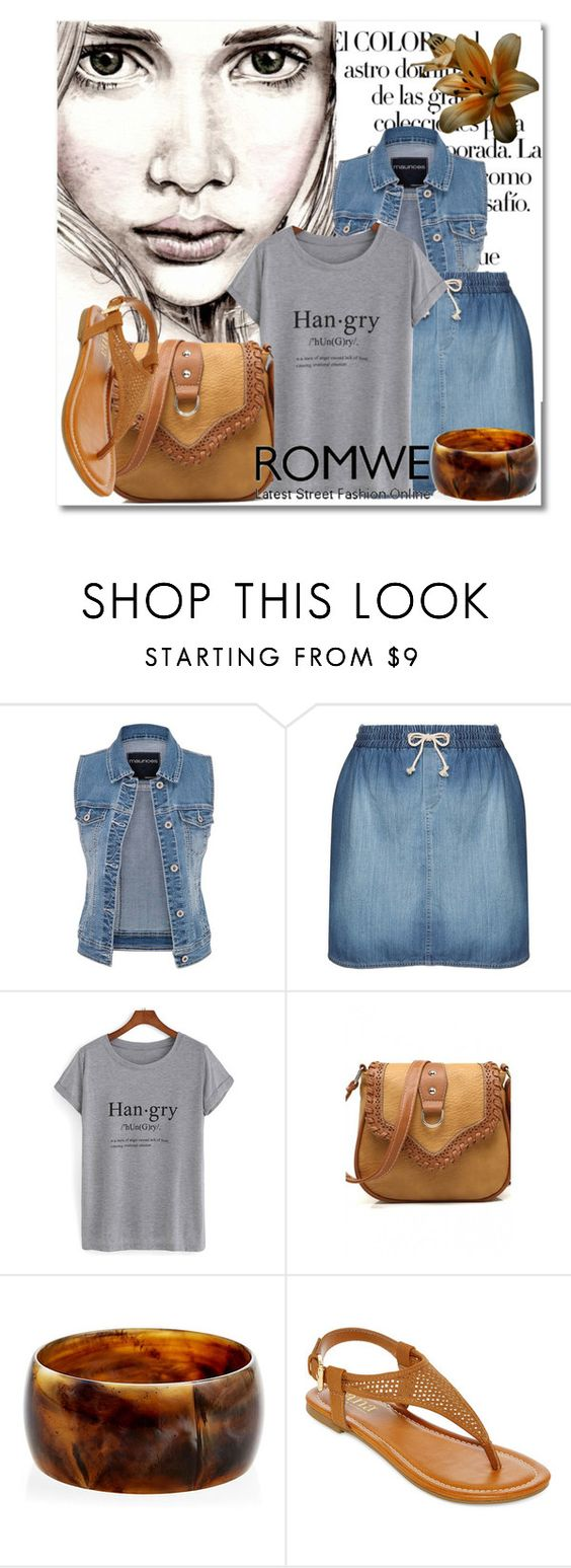 """Romwe-Grey T-Shirt"" by samketina ❤ liked on Polyvore featuring Arco, maurices, 17 Sundays, Ben-Amun and A.N.A"