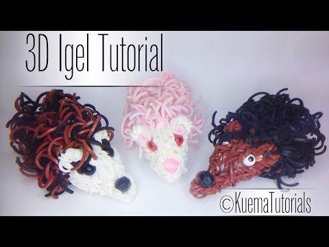 Rainbbow Loom 3D Igel / 3D hedgehog Tutorial - YouTube