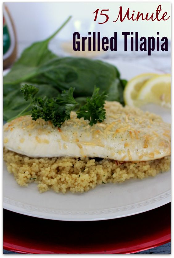 15 minute grilled tilapa