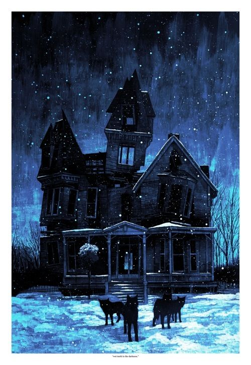 Home Sweet Home *grin*: Daniel Danger, Haunted House, Blue House, Wet Teeth, Art Illustration