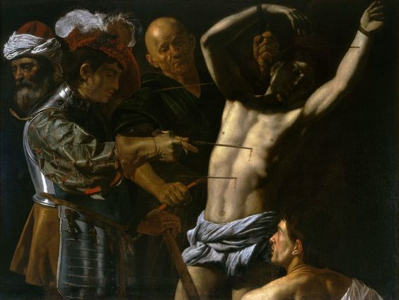 Francesco Boneri (Cecco del Caravaggio), The Martyrdom of Saint Sebastian, c. 1610-20